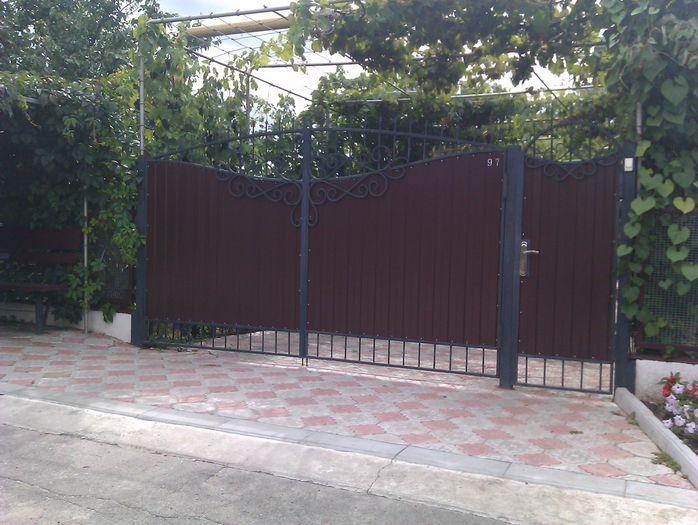 Ворота из из профнастила с